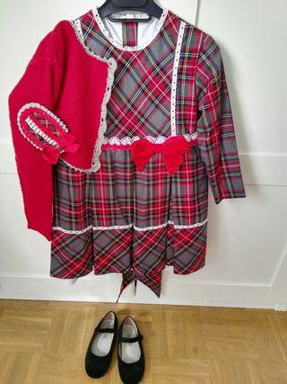 Vestido niña cuadros 5 años