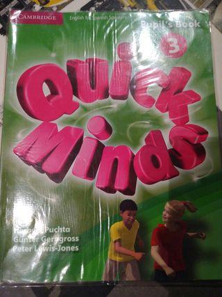 Libro inglés Quick Minds- Pupil's book 3°
