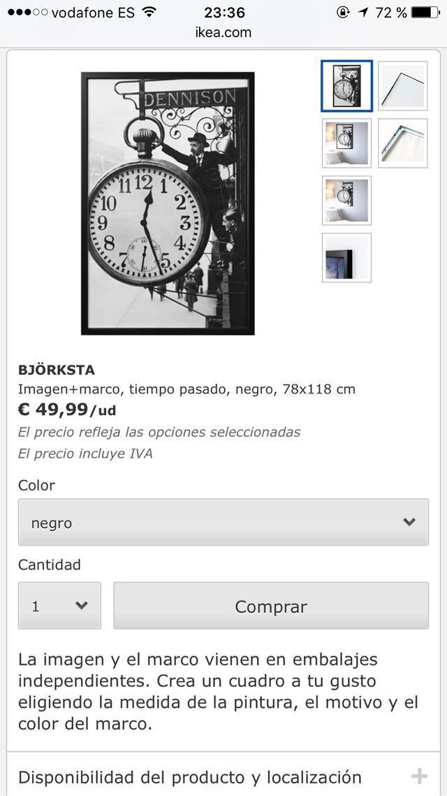 Cuadro BJÖRKSTA de IKEA de segunda mano por 25 € en A Coruña - wallapop