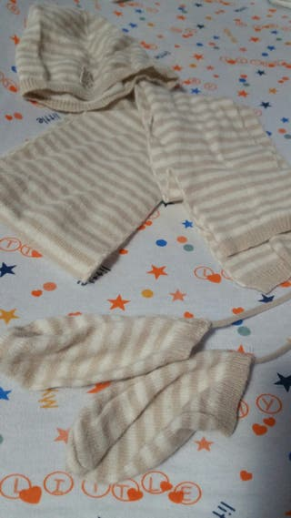 conjunto gorro, guanted y bufanda bebe