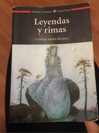 Libro lectura Leyendas y rimas