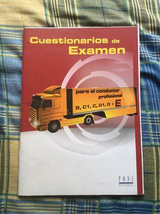 Libro cuestionarios de examen carnet E