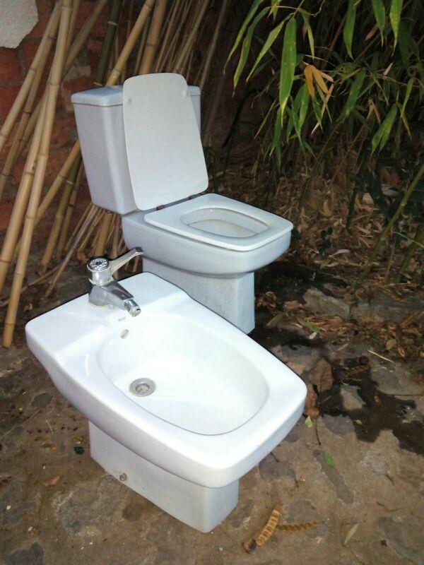 bidet Roca + lavabo Roca