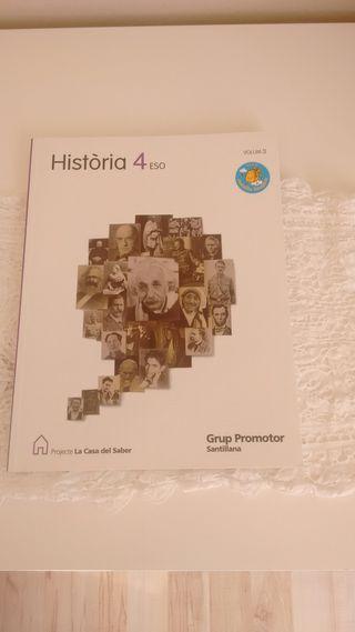 Libro de Història 4to ESO santillana