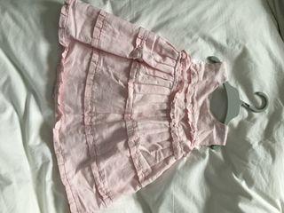 Vestido rosa niña