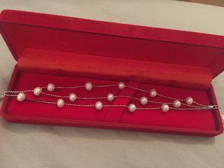 Pearl 3 strand bracelet