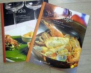 Libro recetas Cocinas del mundo India y Portugal