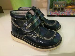 botas azules marinas talla 26