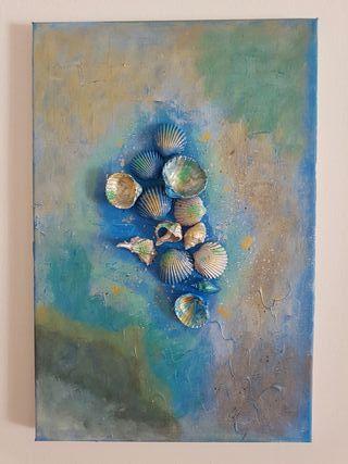 Pintura abstracta en relieve