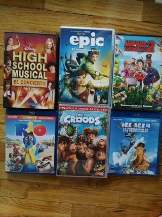 Películas Dvd`s EPIC, RIO, ICE AGE...