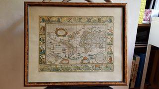 Mapa antiguo 46x39 cm