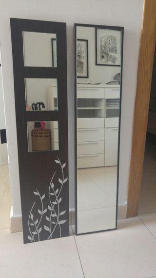 cuadros de madera decorados con espejos