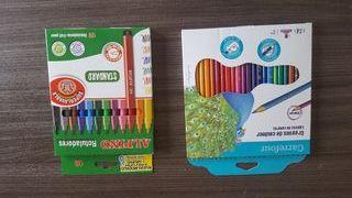 pack colores madera + rotuladores A ESTRENAR