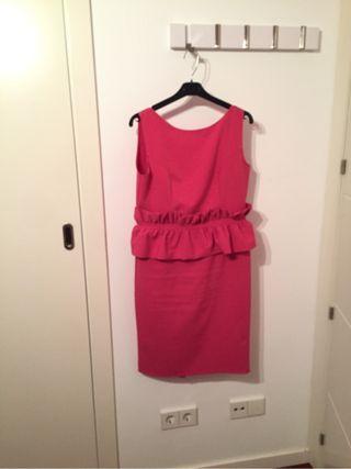 Vestido fiesta rosa talla L-42