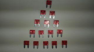 fusibles mini 10A 11 mm