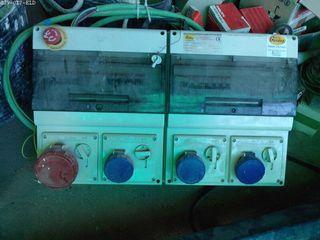 Cuadro electrico doble con mecanismo stop emergenc