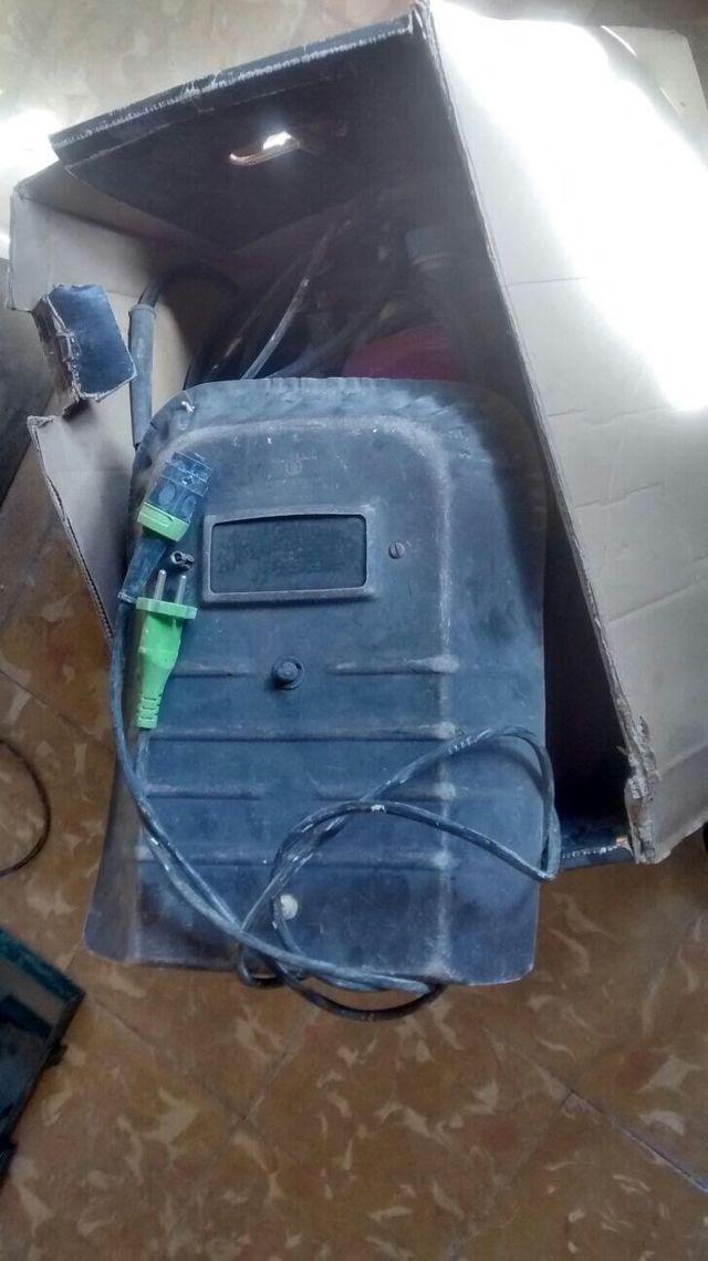 soldar soldadora mini gar 130 cables y máscara