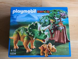 Playmobil Triceratops con bebe