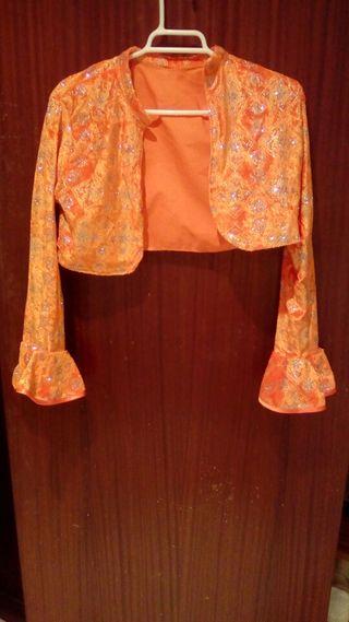 chaquetilla flamebca en color naranja
