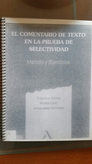 libro COMENTARI TEXTO acceso uned