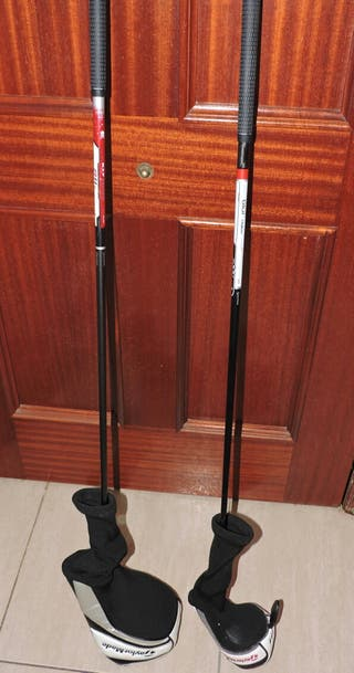 2 palos de golf de fibra de carbono