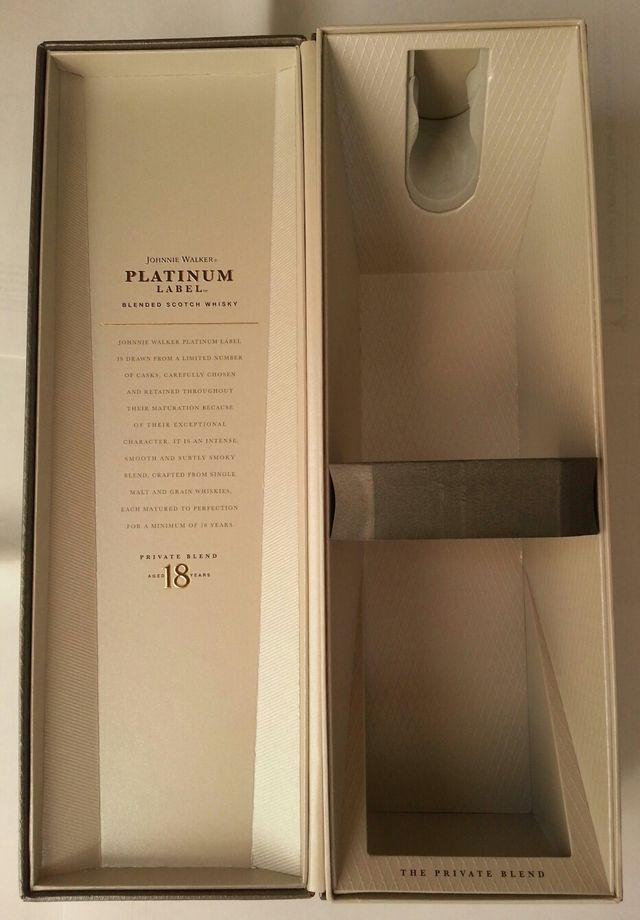 Caja de Johnnie Walker Platinum label