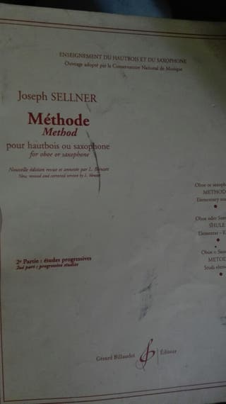 methode Joseph Sellner(oboe y saxo)