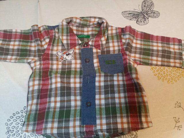 Ropa bebé. Conjunto Vaquero+camisa