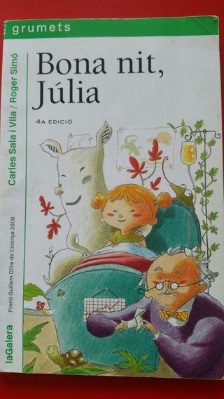 Libro: Bona nit, Júlia