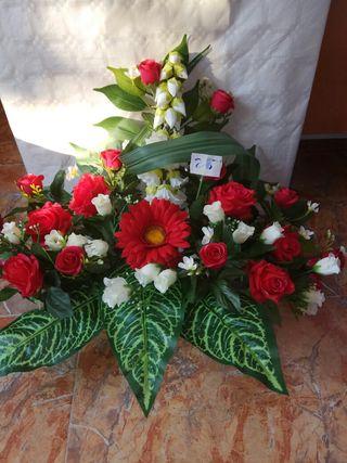 flores artificiales jardineras, bucaros, centros