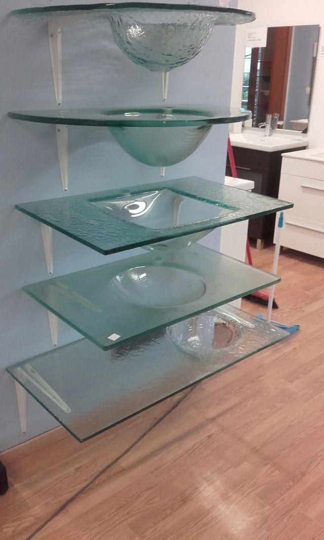 Lavabos encimeras de cristal transparente de segunda mano por 80 en sant julia de ramis en - Encimera lavabo cristal ...