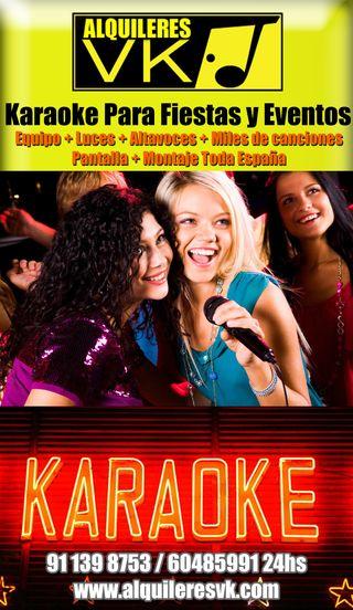Karaoke Completo en tu Evento