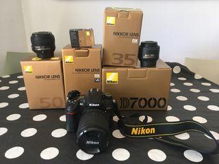 Nikon d7000 con objetivos