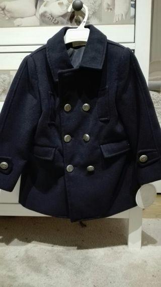 abrigo azul marino dolce petit talla 4 con etiquet