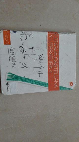 Libro Castellano 4 ESO.