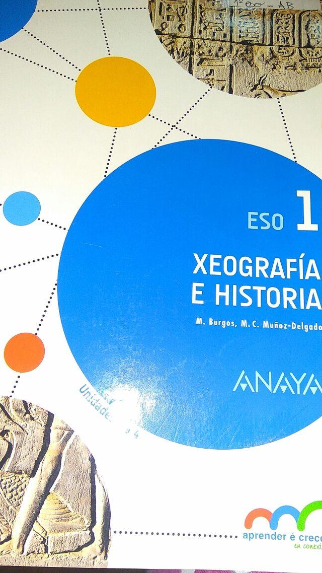 libro xeografia e historia 1° de la eso