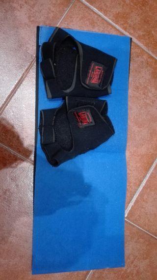 guantes de gimnasio y faja