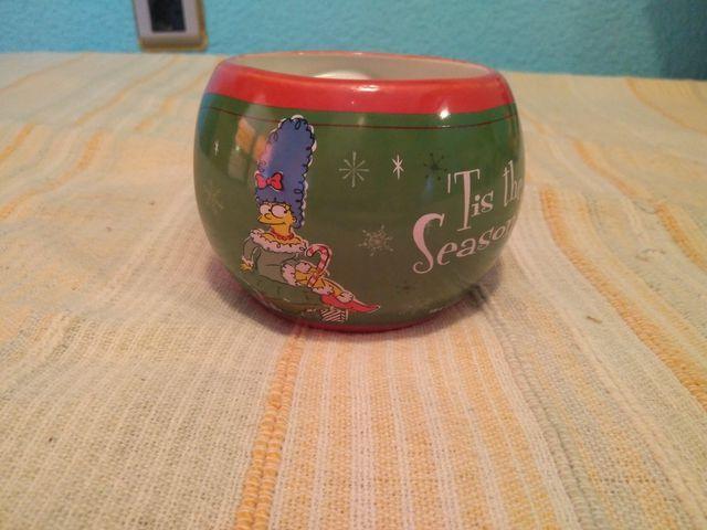 Taza desayuno Simpson Navidad
