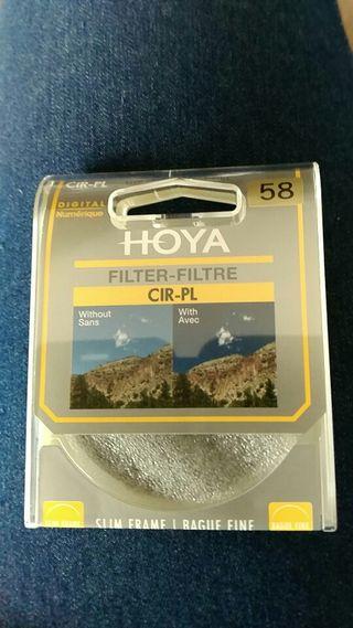 Filtro polarizador HOYA 58 mm