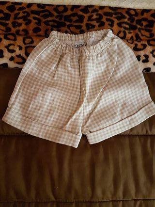 pantalon talla 3 meses de cuadritos marca alma
