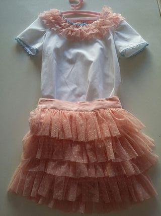 blusa y falda niña