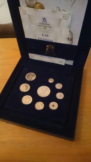 Colección de pesetas de plata