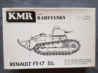 Maqueta tanque, RENAULT FT-17 de KMR a 1/35.