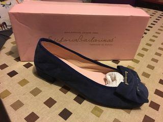 Zapato azul ante T37