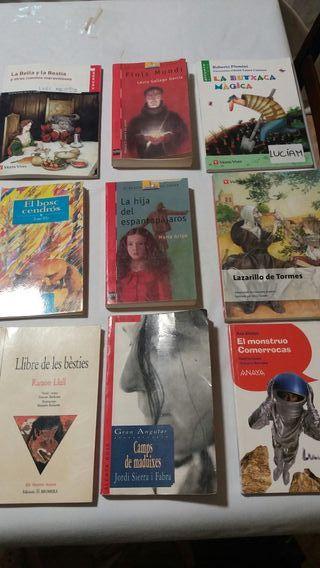 Libros lecturas de 1° a 4° de ESO
