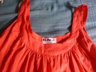 Vestido camisola color tomate