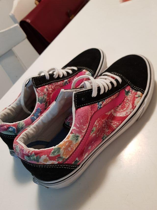 Zapatillas Vans Oldschool Flores De Segunda Mano Por 10 En