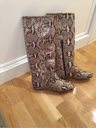 Valentino botas de piel serpiente