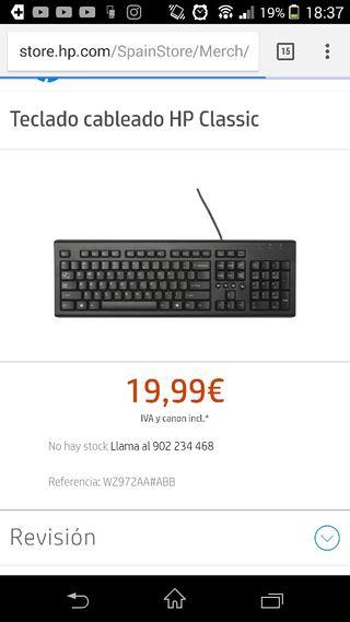 teclado y ratón hp nuevo