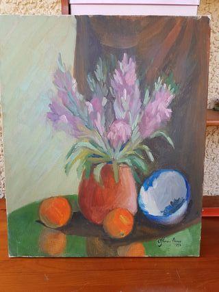 Cuadro jarrón con flores